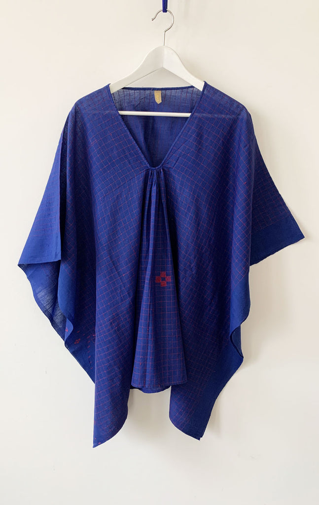 Short Ultrablue sketch caftan