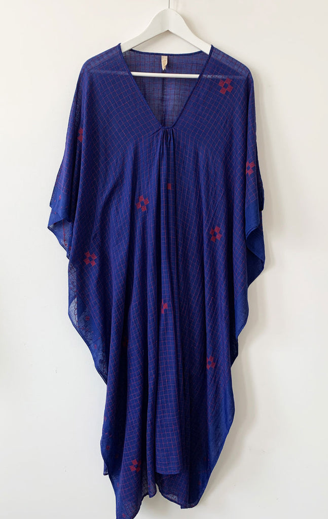 Blue sketch signature caftan