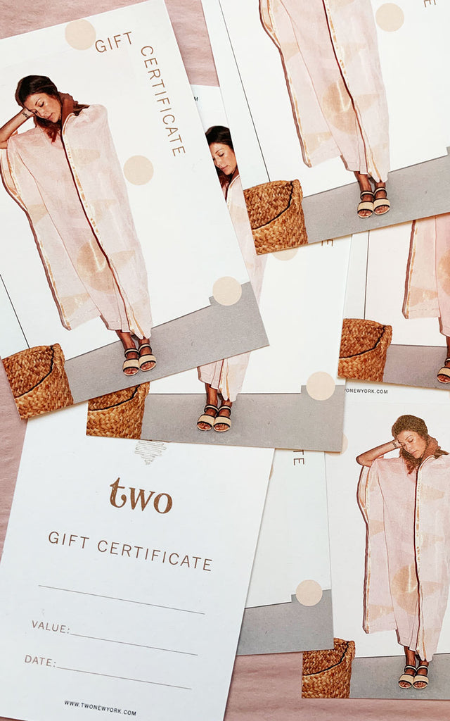 Two gift certificate