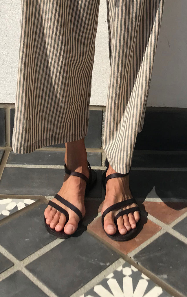 Strappy natural cuoio sandals-size 42 left!