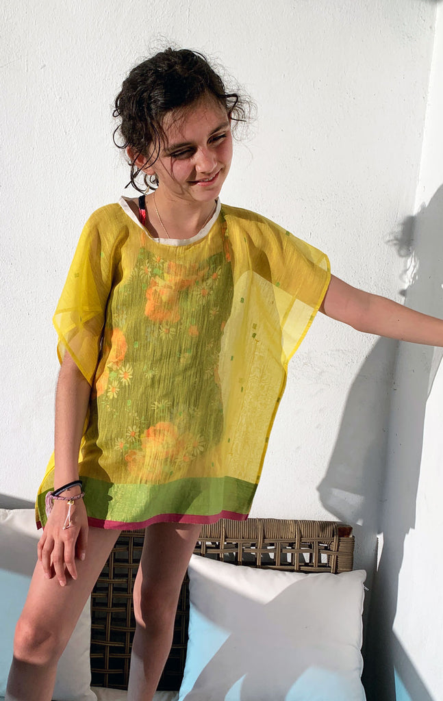 Kids yellow caftan