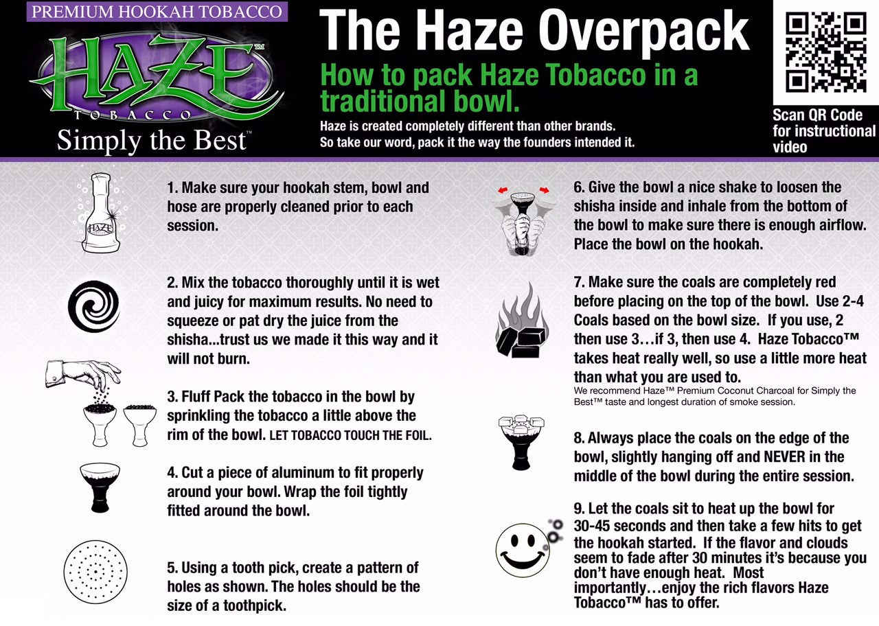 How to Pack Haze Tobacco