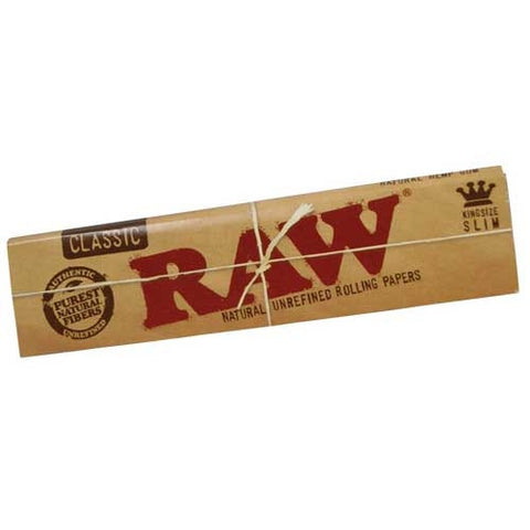 Raw Classic King Size Slim Rolling Papers - Retro Active Smoke Shop