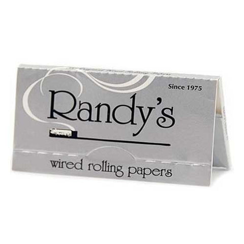 Randy's Silver 1 1/4 Wired Rolling Papers - Retro Active Smoke Shop