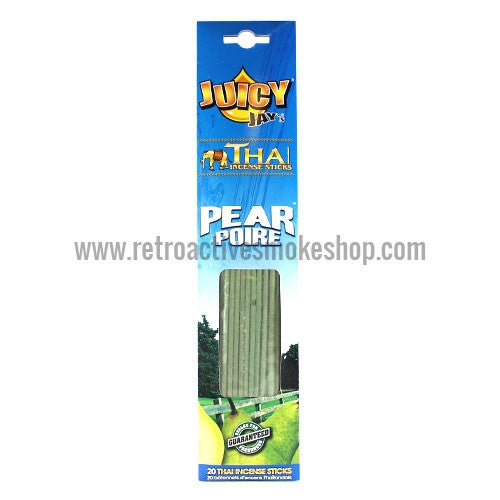Juicy Thai 20 Pack Incense Sticks - Pear - Retro Active Smoke Shop