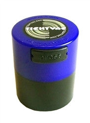 MiniVac Storage Container 1oz - Blue/Black - Retro Active Smoke Shop