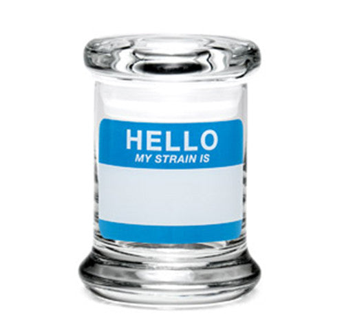 420 Science X-Small Pop Top Jar - Hello Write & Erase - Retro Active Smoke Shop