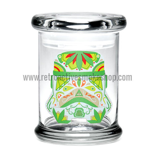 420 Science Medium Pop Top Jar - Sugar Trooper - Retro Active Smoke Shop