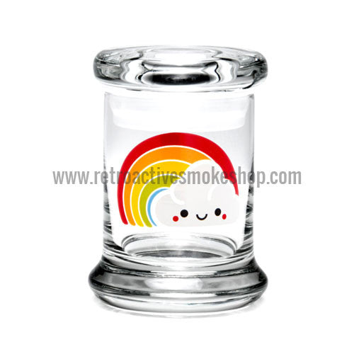 420 Science X-Small Pop Top Jar - Rainbow - Retro Active Smoke Shop