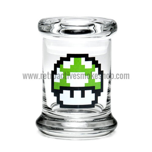 420 Science X-Small Pop Top Jar - 1-Up Mushroom - Retro Active Smoke Shop