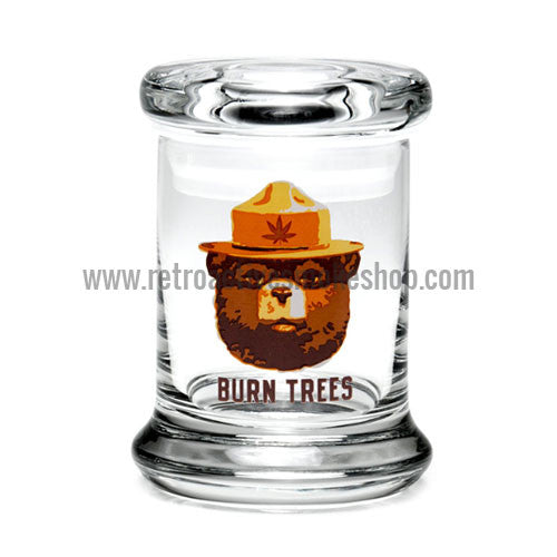 420 Science X-Small Pop Top Jar - Burn Trees - Retro Active Smoke Shop