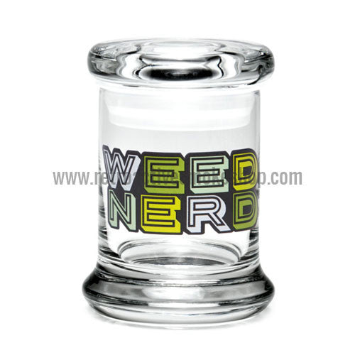420 Science X-Small Pop Top Jar - Weed Nerd - Retro Active Smoke Shop