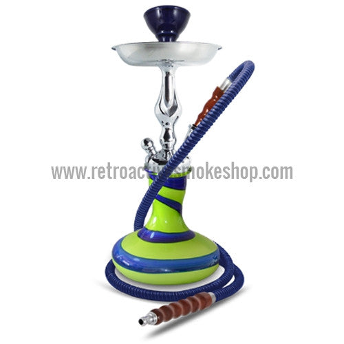 "Sahara Smoke 15"" Vibe Hookah - Green - Retro Active Smoke Shop"