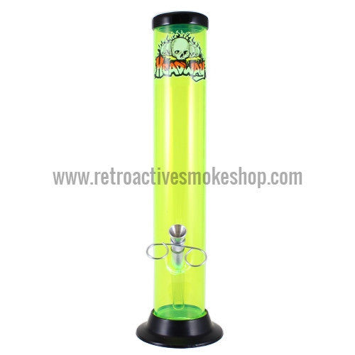 "Headway 12"" Acrylic Waterpipe - Yellow - Retro Active Smoke Shop"