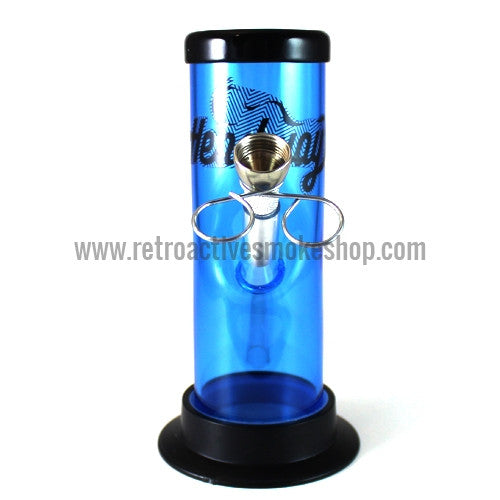 "Headway 6"" Acrylic Waterpipe - Blue - Retro Active Smoke Shop"