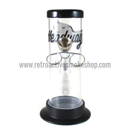 "Headway 6"" Acrylic Waterpipe - Clear - Retro Active Smoke Shop"