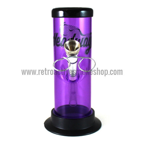 "Headway 6"" Acrylic Waterpipe - Purple - Retro Active Smoke Shop"