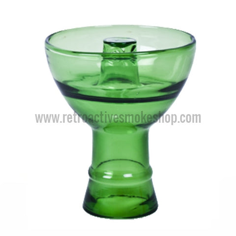 Sahara Smoke Pyrex Vortex Hookah Bowl - Green - Retro Active Smoke Shop