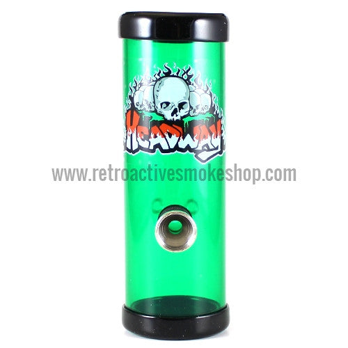"Headway 6"" Acrylic Steamroller - Green - Retro Active Smoke Shop"