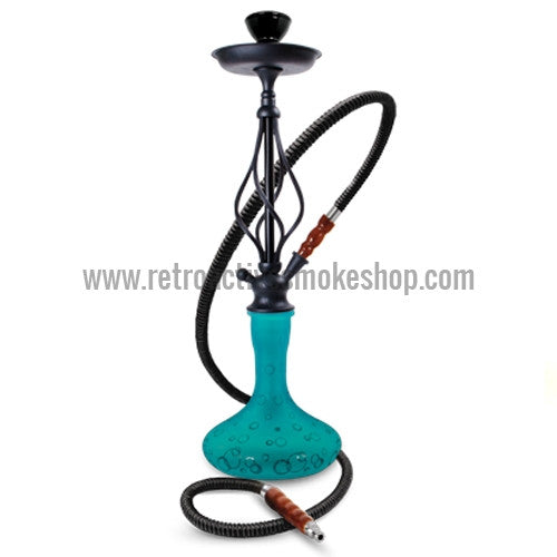 "Sahara Smoke 24"" Bubble Hookah - Teal - Retro Active Smoke Shop"