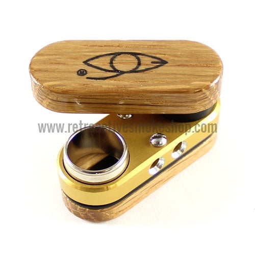 Classic Monkey Pipe - Gold - Retro Active Smoke Shop