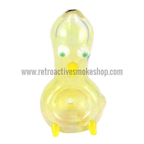 Chameleon Glass Ugly Duckling Bird Hand Pipe - Fumed - Retro Active Smoke Shop