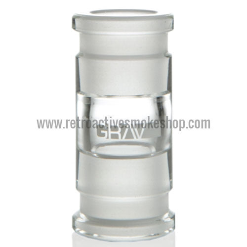 Grav Labs 18mm Female/18mm Female Straight Adapter - Retro Active Smoke Shop