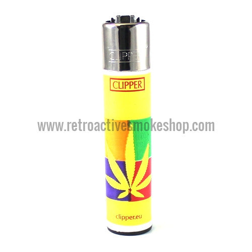 Clipper Lighter - Yellow Leaf - Retro Active Smoke Shop