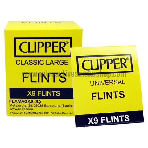 Clipper Universal Flints (9-Pack) - Retro Active Smoke Shop
