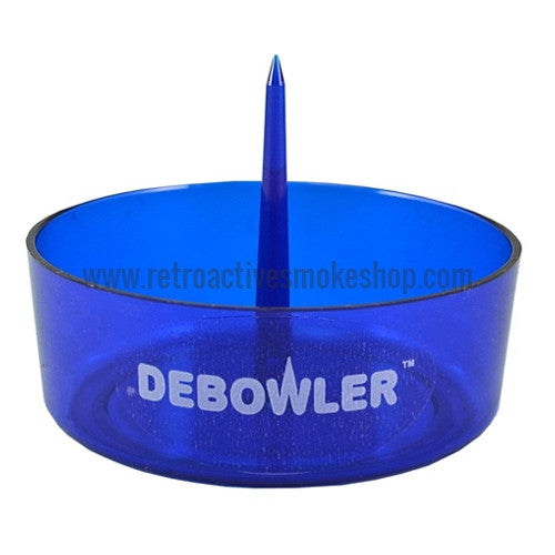 Debowler Ashtray - Transparent Blue - Retro Active Smoke Shop