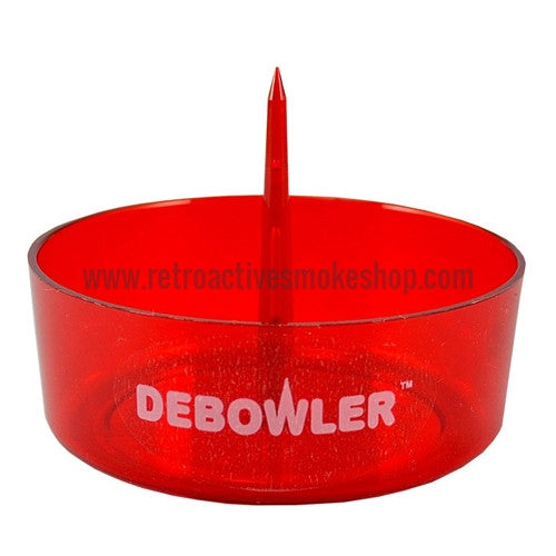 Debowler Ashtray - Transparent Red - Retro Active Smoke Shop