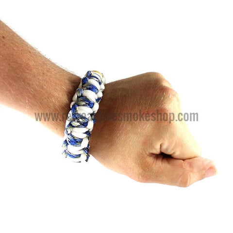 [product type] - (CLEARANCE) RASS Discreet Stash Bracelet Pipe - Blue - Retro Active Smoke Shop