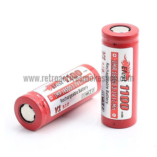 Efest IMR 18500 1100mAh Flat Top Battery - Retro Active Smoke Shop
