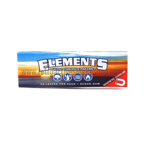 Elements 1 1/4 Ultra Thin Rice Rolling Papers - Retro Active Smoke Shop