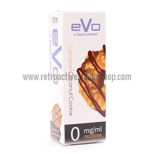 [product type] - (CLEARANCE) Evo Premium E-Liquid Caramel Coconut Cookie - 10ml - 0mg/ml - Retro Active Smoke Shop