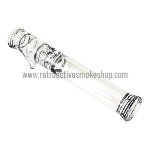 Glowfly Glass Steamroller - Clear/Black - Retro Active Smoke Shop