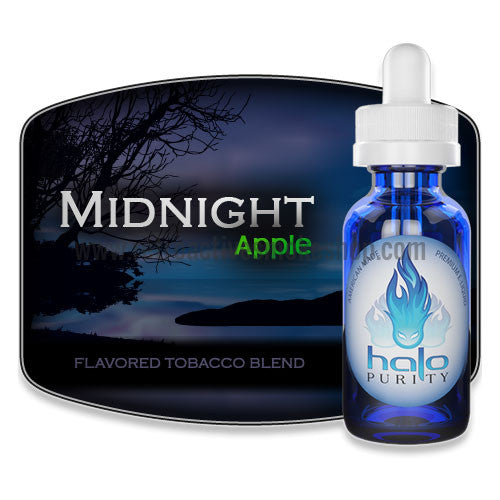 [product type] - (CLEARANCE) Halo Premium E-Liquid Midnight Apple - 30ml - 0mg/ml - Retro Active Smoke Shop