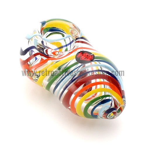 "Dynomite Glass Phatty ""Taste the Rainbow"" Egg Pipe - Retro Active Smoke Shop  - 1"