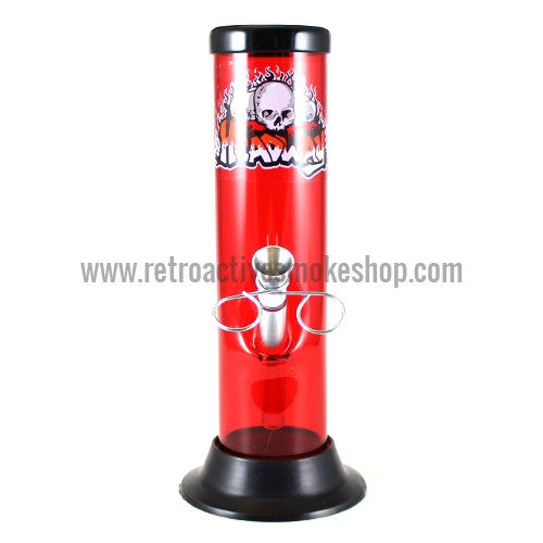 "Headway 8"" Acrylic Waterpipe - Red - Retro Active Smoke Shop"