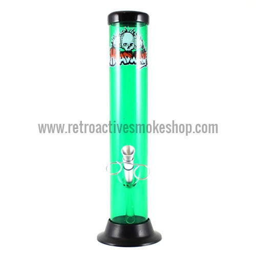 "Headway 10"" Acrylic Waterpipe - Green - Retro Active Smoke Shop"