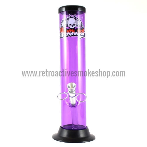 "Headway 10"" Acrylic Waterpipe - Purple - Retro Active Smoke Shop"