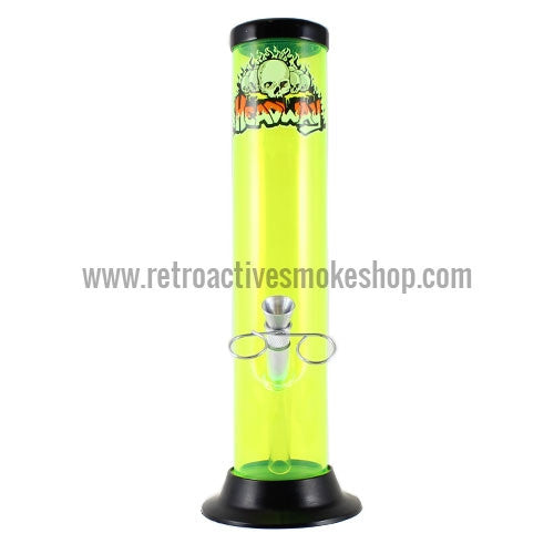 "Headway 10"" Acrylic Waterpipe - Yellow - Retro Active Smoke Shop"