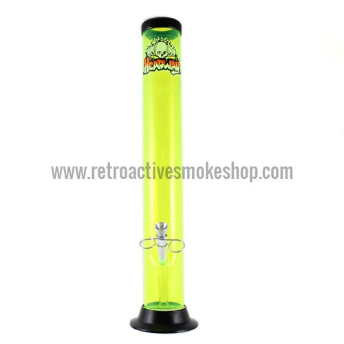 "Headway 14"" Acrylic Waterpipe - Yellow - Retro Active Smoke Shop"
