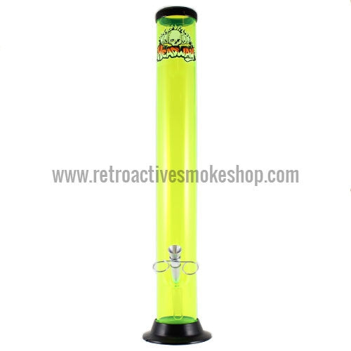 "Headway 16"" Acrylic Waterpipe - Yellow - Retro Active Smoke Shop"