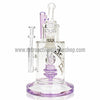 Pulse Glass Double Showerhead Vapor Rig - Purple - Retro Active Smoke Shop  - 2