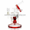 Pulse Glass Double Showerhead Vapor Rig - Red - Retro Active Smoke Shop  - 1