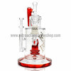 Pulse Glass Double Showerhead Vapor Rig - Red - Retro Active Smoke Shop  - 2