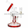 Pulse Glass Double Showerhead Vapor Rig - Red - Retro Active Smoke Shop  - 3