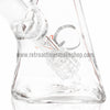 "Quantum Sci 8"" Mini Pyramid with Fixed Downstem Percolator - White - Retro Active Smoke Shop  - 3"