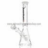 "Quantum Sci 8"" Mini Pyramid with Fixed Downstem Percolator - White - Retro Active Smoke Shop  - 2"